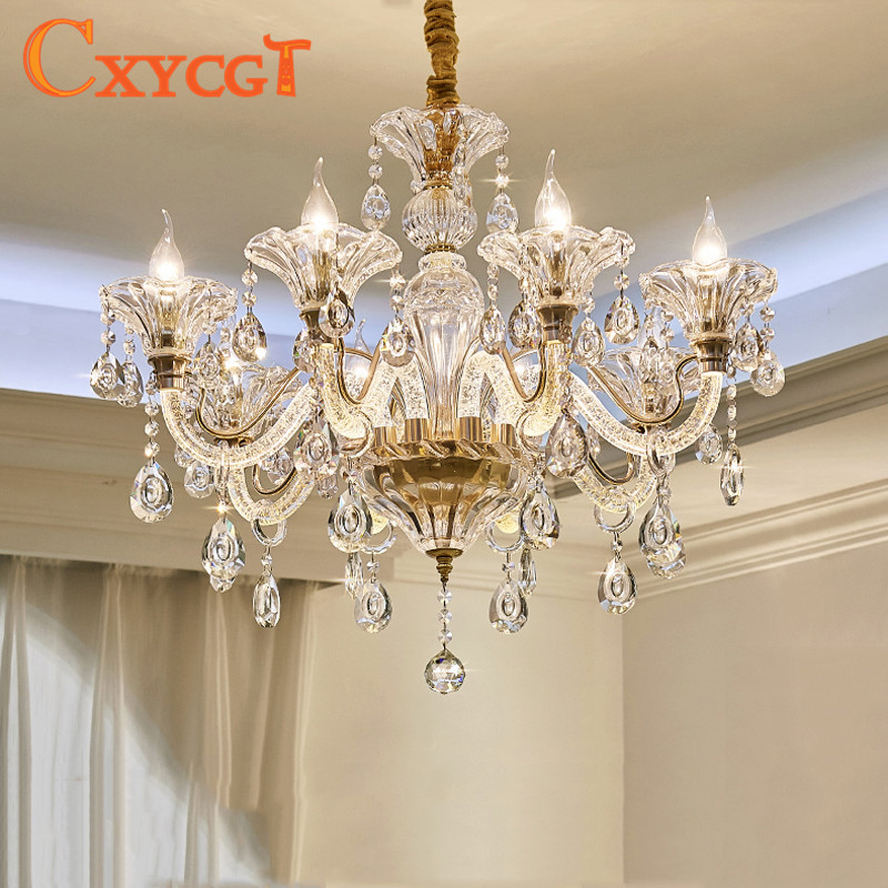 Chandelier Modern crystal chandeliers Livingroom Bedroom indoor lamp K9 crystal lustre ceiling chandelier LED lights cable high quality 6 pin to 8 pin pci express power converter cable for gpu video card pcie pci e cabo 17july4