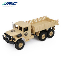 JJR/C JJRC Q63 1/16 2.4G 6WD Off Road Military Truck Crawler RC Car Brush Motor Remote Control Toys Green Yellow