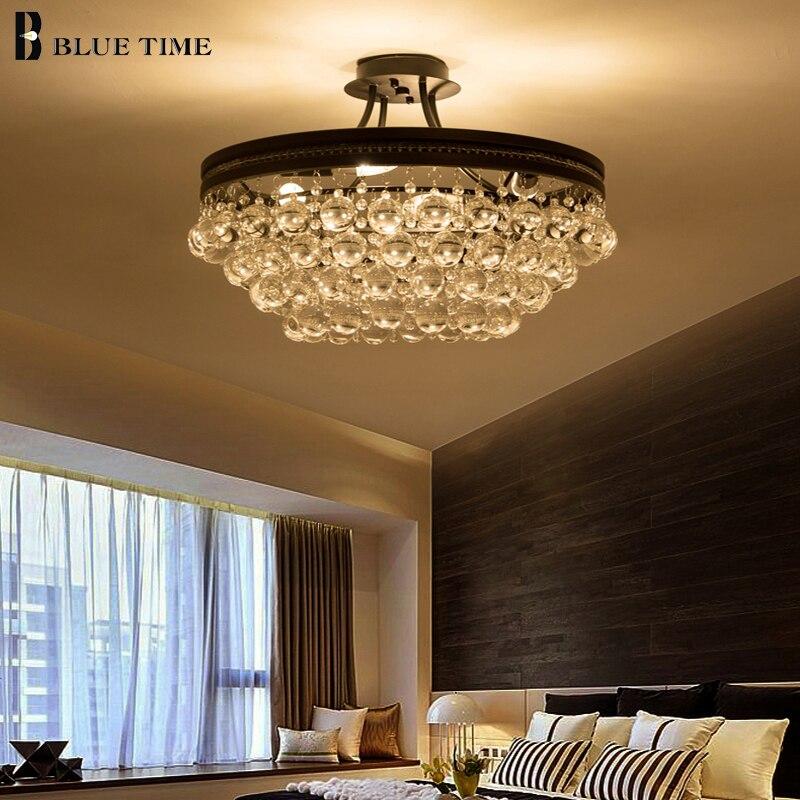 New Arrival Crystal light Modern Ceiling Light For Living Room Bedroom Plafon Fashion Crysta Lamp Home Lighting Fixtures AC220V.