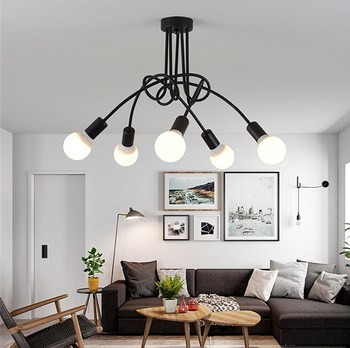 Vintage Ceiling Lights led Ceiling Lighting Black Ceiling light Creative Personality Ceiling Lamps Fixtures Living Room Lustre