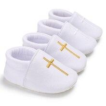 5611442313e Niños pequeños Iglesia bautismo Zapatos Bebé suave Suela blanca primer  caminante niña niño calzado recién nacido
