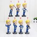 15 cm Fallout Vault 4 Menino PVC Action Figure toys 7 estilos cabeças de Jogo fallout vault 4 menino bobbleheads series brinquedo