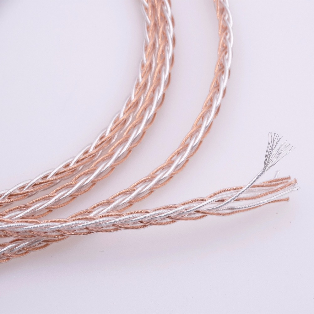 1 м 8 ядер 4 + 4 гибридный 5N pcocc Медь 8*19*0,1 мм аудио кабель для наушников DIY Замена Ремонт кабель обновления