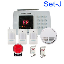 Best price Promotion English User manual PSTN Alarm system Home security Alarm system with Smoke Alarm(China)