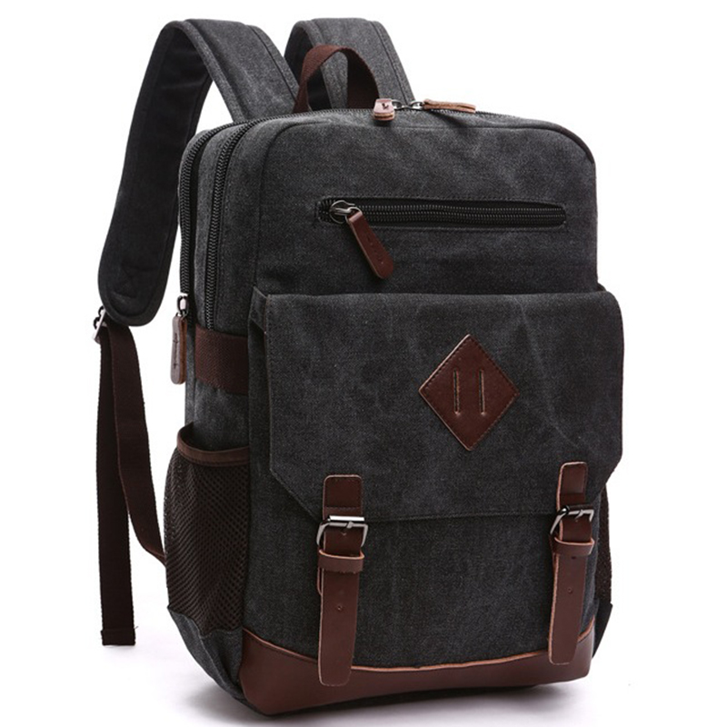 Canvas Backpack Men Large Vintage School Bag for Teenagers Mochila  Masculina Casual Rusksack Bags for School Daypack Bolsas 05ac74b41b
