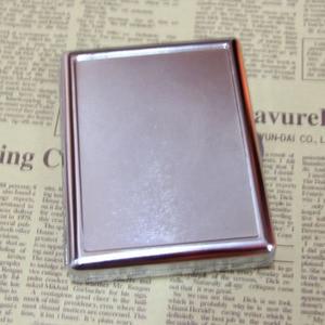 Image 2 - 4Pcs  Blank 20 Cigarette Box Case Stainless Steel Tobacco Tube Storage Pocket Box Holder Handy Portable DIY  Free Shipping