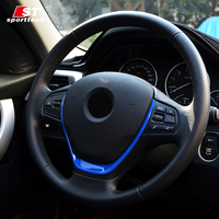 Car Styling Steering Wheel Sticker For BMW 3 Series 316i 320li F30 Chromium Styling Covers For