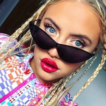 OFIR Sexy Cat Eye Sunglasses 2018 New Fashion Triangle Metal Pink Modern Retro Designer Women Sun Glasses Shades for Lady YD-52