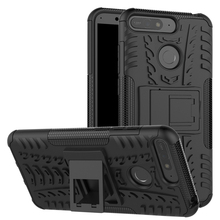 For Huawei Y6 2018 Case Hard TPU+PC Armor with Stand Silicone Hybrid Protective back Cover cases huawei y6 shell