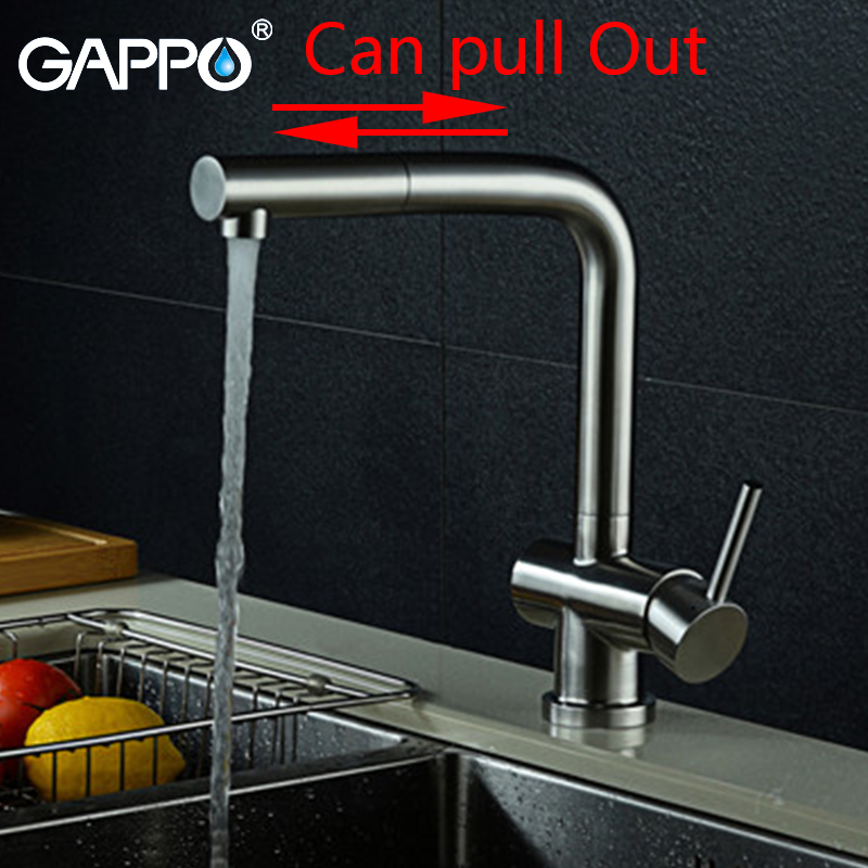 Gappo kitchen Faucets mixer pull out kitchen water stainless steel sink mixer taps kitchen water mixers