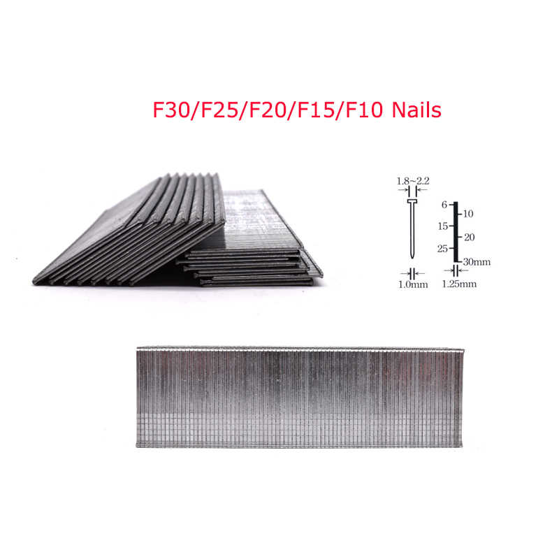 2000 Pcs F30 F25 F20 F15 F10 Nagels Voor Framing Tacker Elektrische Nagels Nietpistool