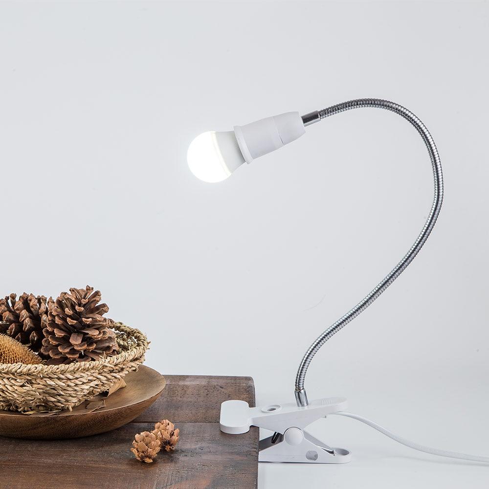 E26 E27 Led Clamp Clip On Desk Light Work Table Lamp Holder Flexible Neck Lamps Lamps Home Garden