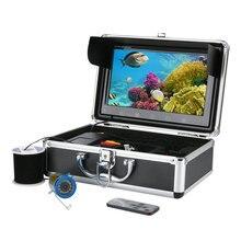"""GAMWATER 10 """"LCD 20 M Pesca Submarina Cámara de Vídeo HD 1000TVL Kit 12 UNIDS Infrarrojos Lámpara de Buscador de Los Pescados"""
