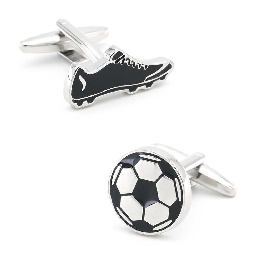 Mannen Voetbal & Schoen Manchetknopen Koper Materiaal Witte Kleur