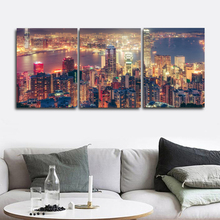 Laeacco Modern City Night Scene Posters and Prints Wall Artwork Canvas Painting Baby Bedroom Living Room Nordic Home Decoration