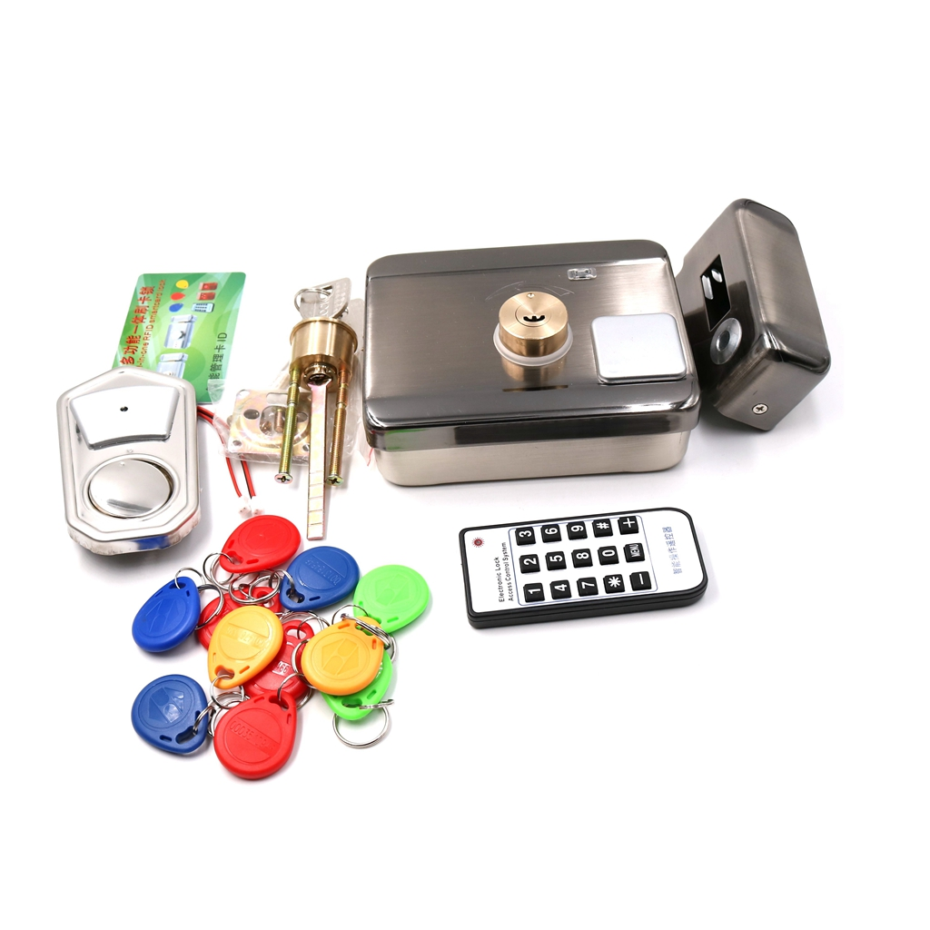 DC12V RFID 125khz EM Card Intelligent Electronic door lock Integral lock Door and Gate Access Control full kit ...