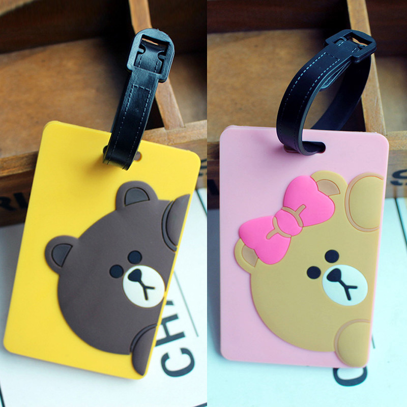 Travel Accessories Suitcase Tags Creative Luggage Tag Silica Gel Suitcase ID Addres Holder Baggage Boarding Tags Portable Label
