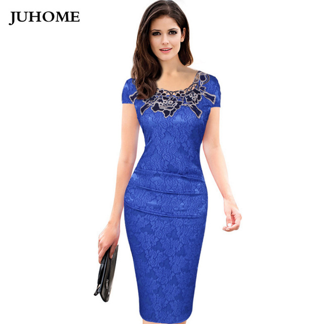 d652b7f5969 plus size Business women clothing 2018 blue red green purple Sexy  Embroidery Party Dresses Rose Elegant Bodycon Midi vestidos