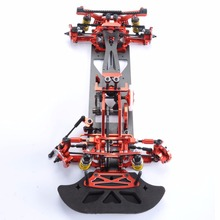 цена на 1:10 4WD Drift Red Carbon Fiber RC Racing Car Drive Shft Frame Kit Chassis G4 Hotsa RC Racing Car accessories
