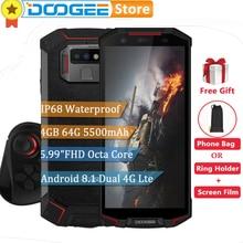 DOOGEE S70 lite Küresel Çift 4G 4 GB 64 GB IP68 Su Geçirmez Telefon Android 8.1 5.99
