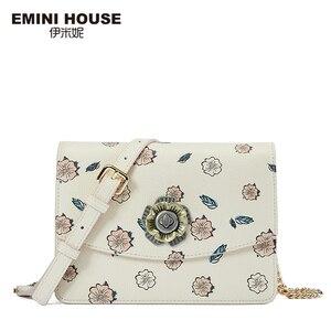 Image 5 - EMINI HOUSE Camellia Crossbody กระเป๋าผู้หญิงกระเป๋าถือหรูผู้หญิงออกแบบกระเป๋าแยกหนังกระเป๋าสะพาย Messenger กระเป๋า