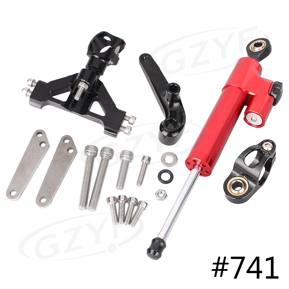 For Kawasaki Ninja ZX14R ZZR1400 2006-2012 Steering Damper Stabilizer Safety Control w/ Mounting Bracket Anodized, 22 Colors