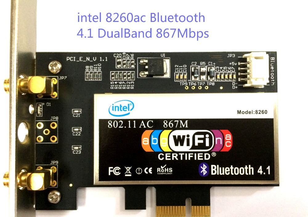 intel 8260ac 8260 wifi card bluetooth 867M dualband 802 11a/b/g/n/ac  wireless wlan card-in Industrial Computer & Accessories from Computer &  Office