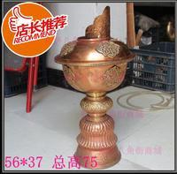 TCH201 Тибетский красный латунь супер большой масляная лампа Кубка 38 см Тибет Буддийские предметы бесплатную Экспресс доставку
