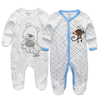 Free Shipping 2015 Winter Baby Clothing Cute Cartoon Baby Boy Clothes Baby Girl Suits Full Sleeve