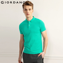 ab4b9334e01 Giordano Men Pique Polo Solid Color Polo Shirt Brand Men Clothing Camisa Polo  Camiseta Masculina Summer