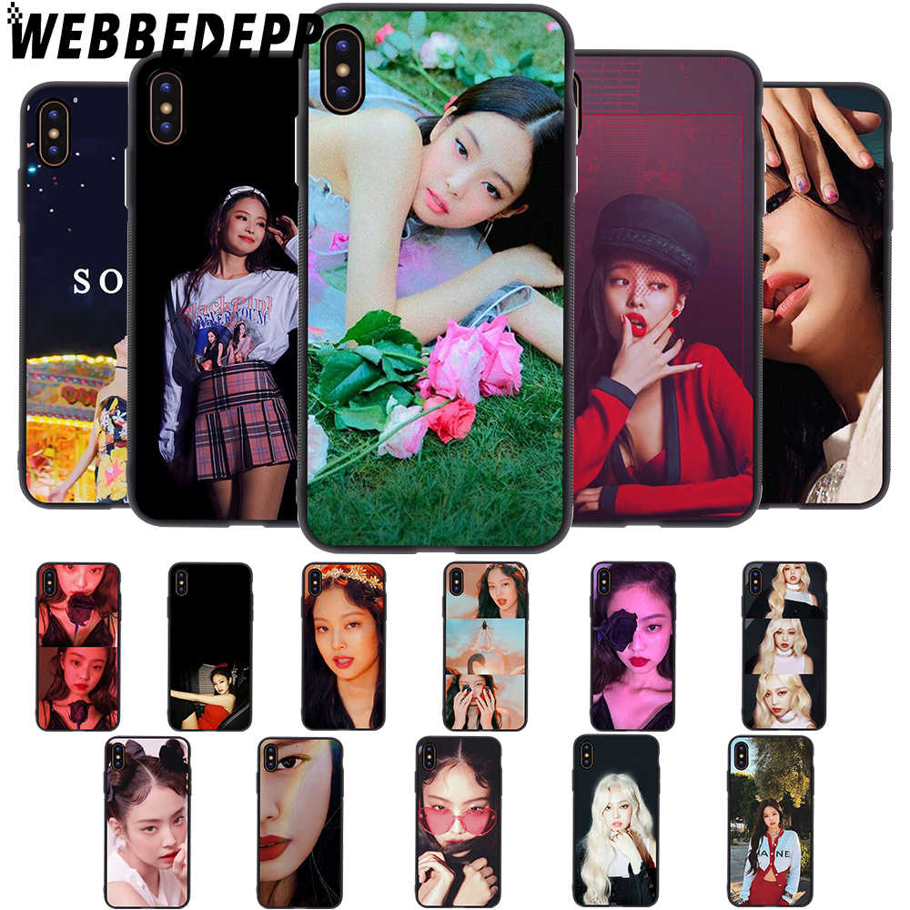 WEBBEDEPP Solo JENNIE BlackPink Soft สำหรับ iPhone 5 5S 6 6S 7 8 Plus X XS 11 pro MAX XR ฝาครอบ