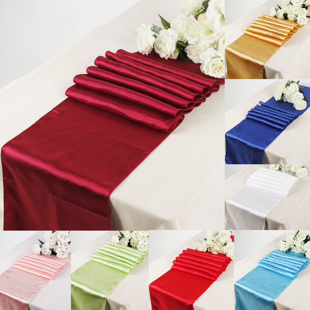 1pcs Satin Table Runner Modern For Home Party Table Decoration Wedding Christmas Decoration 30x275cm