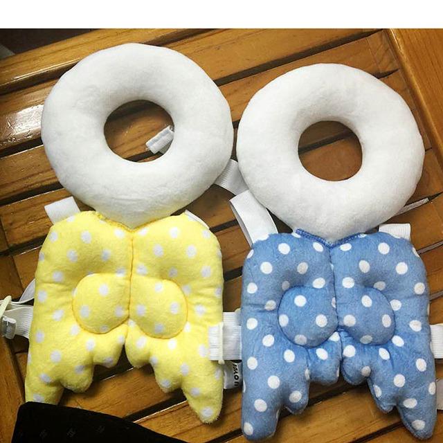 BabyHead Pad Proteção Do Pescoço Do Bebê Travesseiro de Enfermagem da Asa Gota Resistência Aprendizagem bengala harness assistant aid segurança Capacete