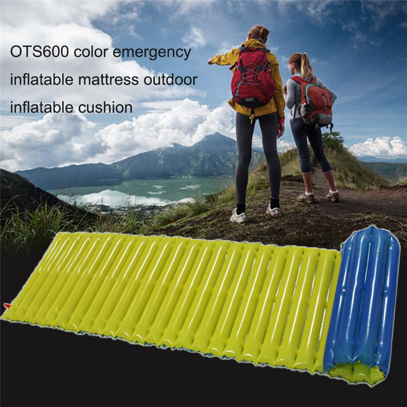 цена на Ultralight Singleplayer Air Emergency Inflatable Mattress Outdoor Cushion Tube Camping Beach Moisture-proof Sleeping Pad