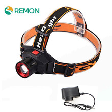 LED Headlamp Cree Q5 Headlight Waterproof Built-in Lithium Battery Rechargeable Head lamp 3 Modes Zoom Flashlight with Charger