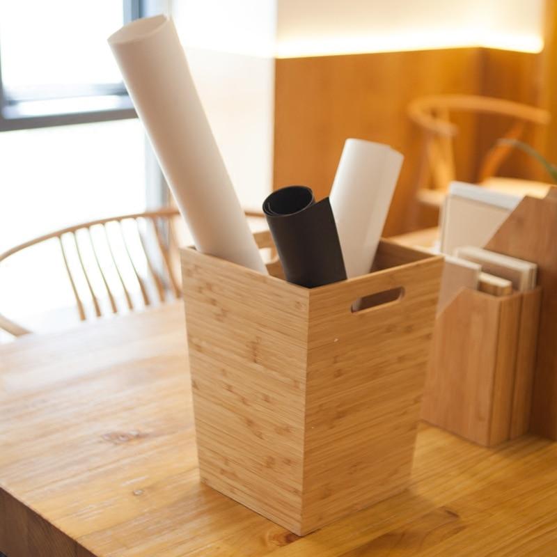 Creativo de bambú caja de almacenamiento para ropa sucia madera ...