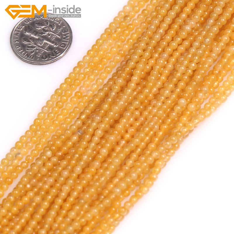 Gem-inside Round Jades Agates Coral Stone Beads Tiny Small Spacer Seed Beads For Jewelry Making 2mm 15inches DIY Jewellery