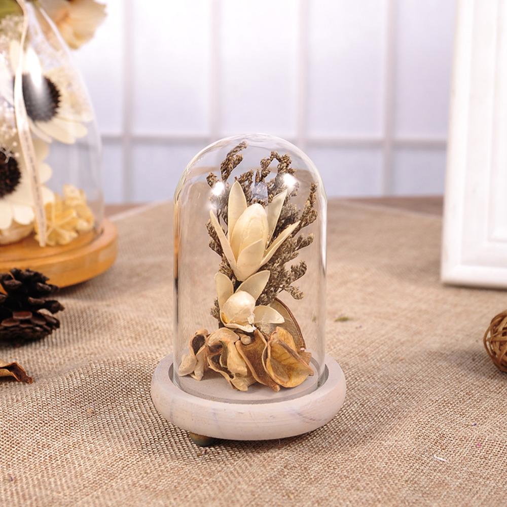 Dried Flowers Creative Terrarium Vase With Gold Flowers 2