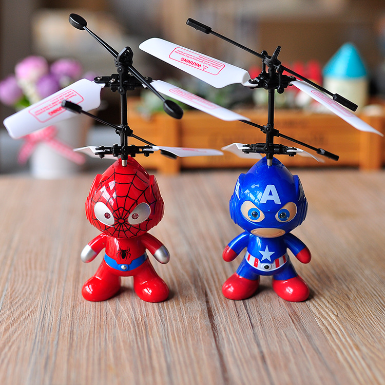 Mini Remote Control RC Spider Man Aircraft Flying Induction Helicopter Plane Kid Baby Child Toys Gift yc folding mini rc drone fpv wifi 500w hd camera remote control kids toys quadcopter helicopter aircraft toy kid air plane gift