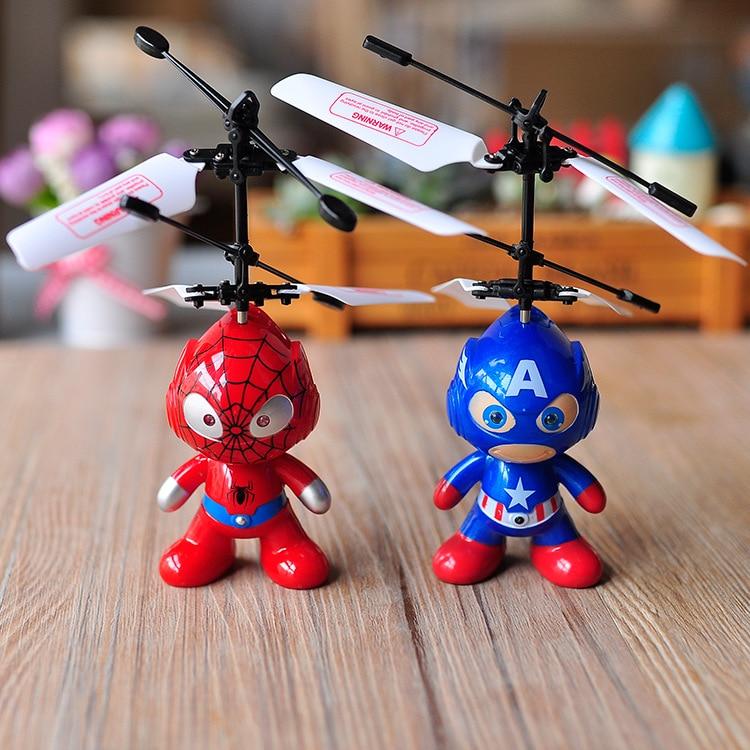 Mini Remote Control RC <font><b>Spider</b></font> <font><b>Man</b></font> Aircraft Flying Minion Induction Helicopter Plane <font><b>Kid</b></font> Baby Child <font><b>Toys</b></font> Gift