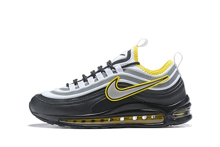 D'origine nouveauté Nike Max 97 UL '17 SE Hommes chaussures de course de Sport baskets d'extérieur Gym Bas Noir/Jaune/Blanc airmax 97 Hommes