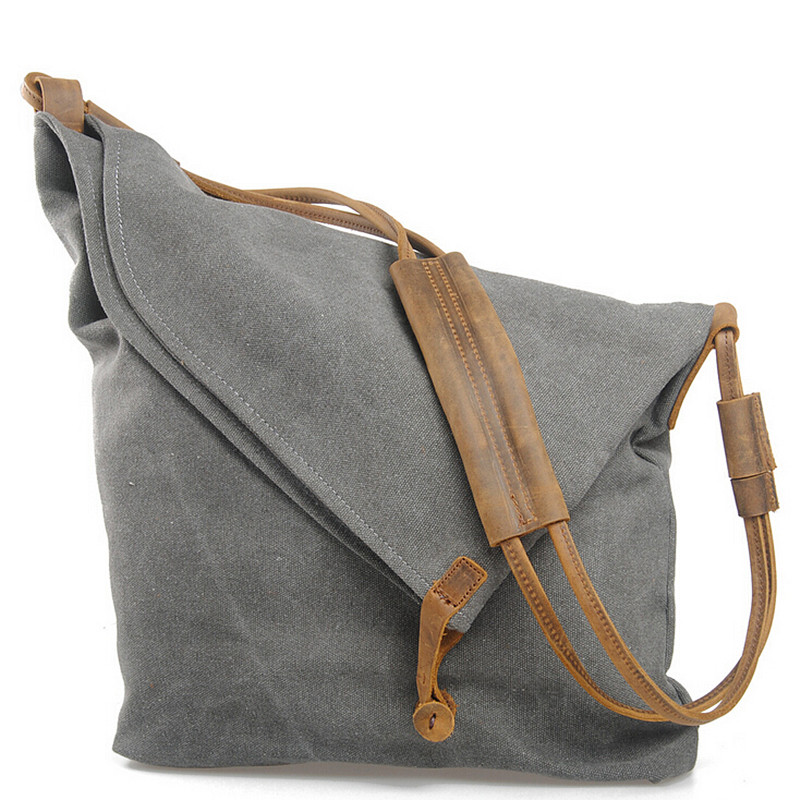 Fashion Women Handbag Canvas Shoulder Bag High Quality Messenger Crossbody Bags Satchel Solid Color Casual Tote Female Brand цена и фото