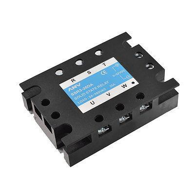 DC to AC 3P Solid State Relay SSR3-25DA 25A 3-32VDC 24-380VAC solid state relay ssr 25da 25a 5 24v dc to 24 380v ac ssr 250a 6 20ma