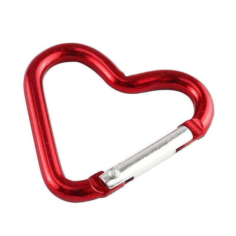 One Selling Color Random Quality Heart-shaped Aluminum Alloy Carabiner Outdoor Hanging Buckle Hanging Buckle