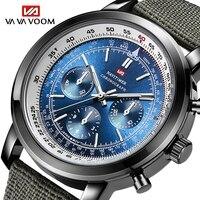 Top Marca de Luxo homens Esportes Relógios À Prova D' Água Homens Relógio Piloto Da Aviação Militar Nylon Homem Relógio de Quartzo Relógio de Pulso Para Homem|Relógios de quartzo| |  -