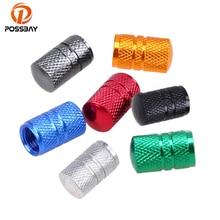 POSSBAY колпачки клапанов для автомобильных шин красный/синий/золотой/серый/черный/зеленый/серебристый алюминиевый клапан для автомобильных велосипедов пылезащитный чехол для автомобильных колес