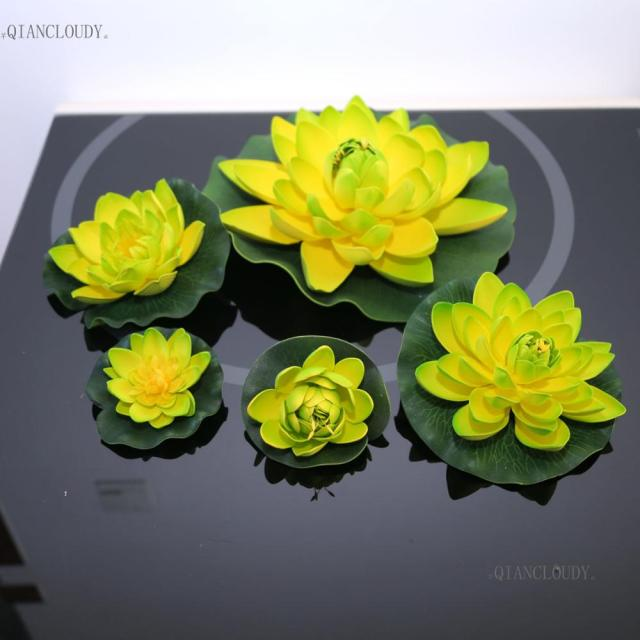 Artificial Green Lotus Fake Lotus Leaf Leaves Flowers Ponds Swimming