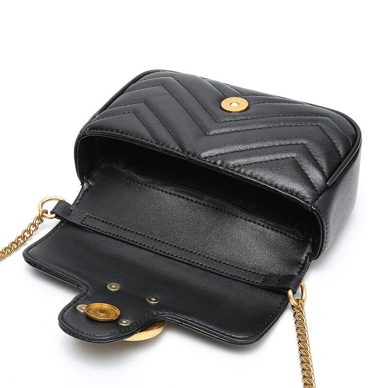 Nouvelle marque célèbre femmes messenger sacs noir petite chaîne sacs à bandoulière femme luxe sac à bandoulière perle sac à main 2019 rouge blanc