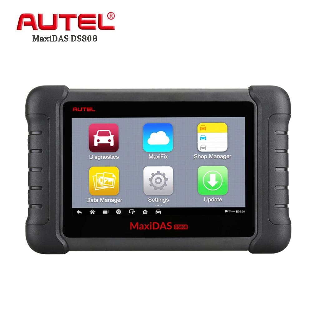 все цены на Autel MaxiDAS DS808 All System Auto Diagnostic Tool Automotive Code Reader Car Scanner Oil Reset TPMS SAS EPB DPF VS MK808 онлайн