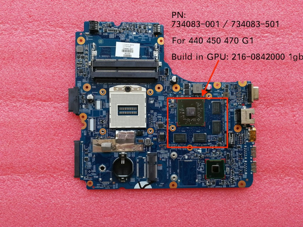 Original New 734083-001 734083-501 48.4YW03.011 mainboard For HP 450 G1 440 G1 470 G1 laptop motherboard with build in GPUOriginal New 734083-001 734083-501 48.4YW03.011 mainboard For HP 450 G1 440 G1 470 G1 laptop motherboard with build in GPU
